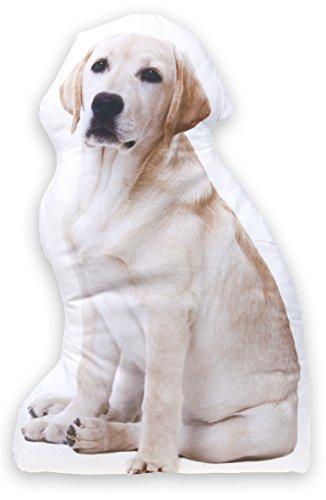 Dekokissen Hund Labrador, Zierkissen mit Motivdruck ca. 67 cm (Baby Riesen Hund)