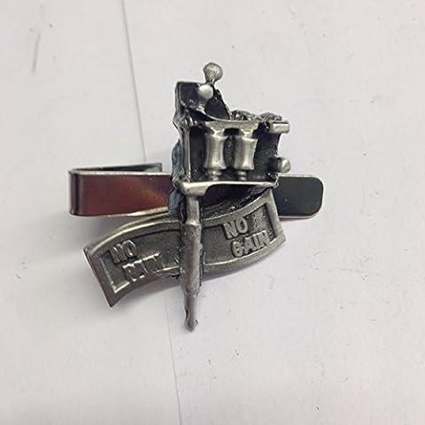 Sticker gain sans douleur sans pistolet sb-a112emblème en étain anglais sur un clip de 4cm de long