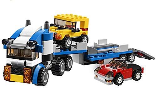 Modbrix Creator - Juego de construcción de Bloques de construcción para Camiones con Remolque y 2 vehículos con 263 Bloques de sujeción