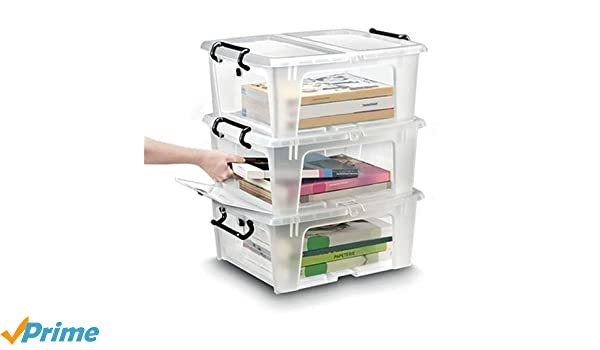 Strata Smart Box 20 Litre With Lid And Opening Flap