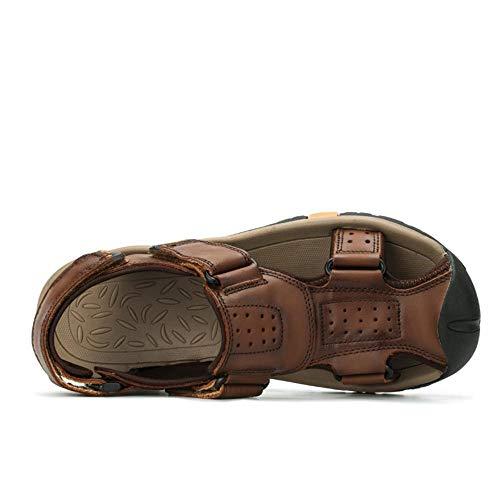 Männer Sandalen Mode Hausschuhe Männlich Atmungsaktiv Sommer Strand Schuhe Sandalen Casual Herren Schuhe-7 UK