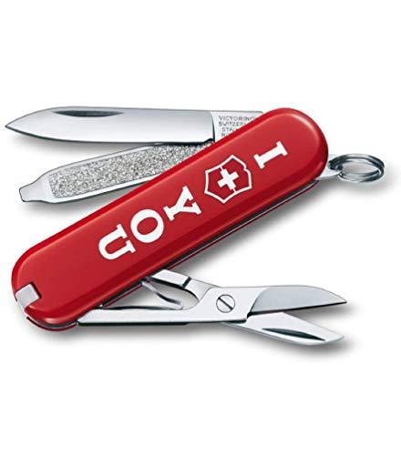 Victorinox Classic SD Taschenmesser, 7 Funktionen, Klinge, Schere, Nagelfeile, the Gift rot