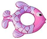 Lukis Baby Kleinkinder Fisch Schwimmsitz Aufblasbarer Schwimmring Sitzring Badeboot 50cm Pink