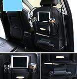#6: Gaze ME Pu Letherette Car Seat Back Organizer and iPad Mini Holder, Universal Use as Car Backseat Organizer for Kids, Storage Bottles, Tissue Box, Toys (Pack of 1 - Black)