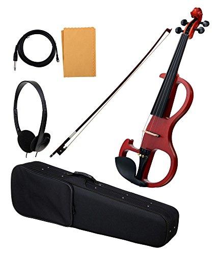 Classic Cantabile EV-90 E-Violine (E-Geige mit Tonabnehmer, Fichte/Ahorn/Ebenholz) natur matt (Elektrischer Ebene)