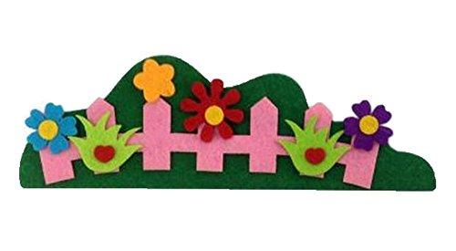 Rosa Zaun Non-Woven-Gewebe-Kinderzimmer-Wand-Dekor-Material, 4PCS