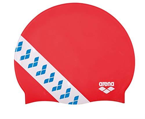 arena Badekappe Team Stripe Logo, Rot
