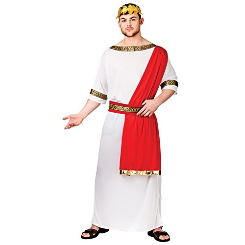 Roman Emperor Historical Fancy Dress Stag (Caesar Erwachsene Kostüme)