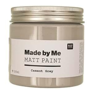 "Made by Me Matt Paint Acrylfarbe "" Cement Grey "" 200 ml."