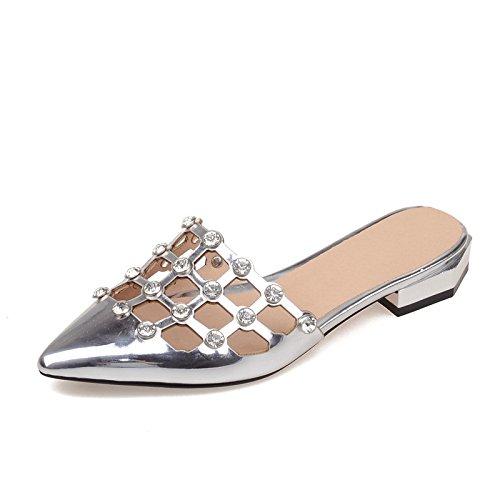 ZYUSHIZ Frau Baotou Gondel Hausschuhe Sandalen Silber