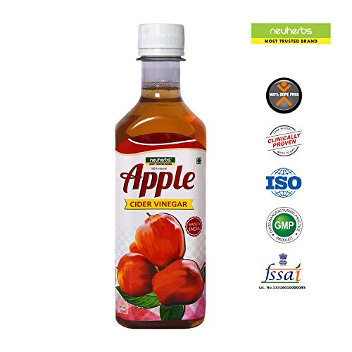 Neuherbs Raw Apple Cider Vinegar (ACV) - 350ml For Weight Loss Unflavored  available at amazon for Rs.155