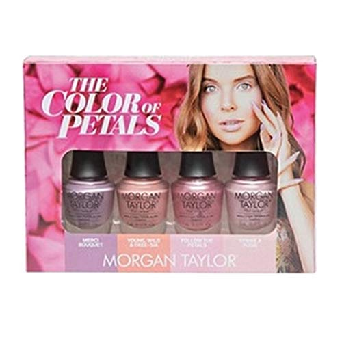 Morgan Taylor The Color of Petals Mini-Set, 4-teilig (Farben Gelish Nagellack Mini)