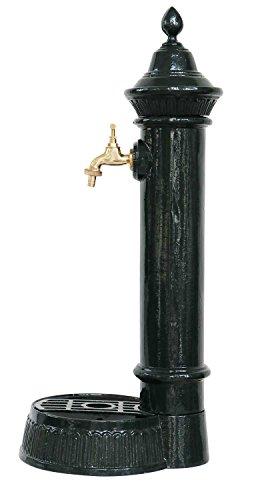 Stand fontana 73cm in alluminio verde fontana del giardino stile antico