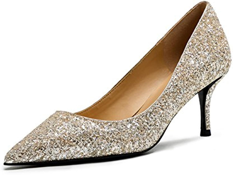 4c1b6022be7998 MUMA Escarpin Talons Hauts 2018 Printemps Saison Pointu Pointu Pointu  Chaussures De Mariée Sexy Cristal Chaussures De Mariage.