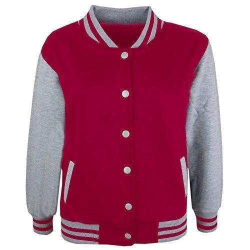 A2Z 4 Kids Kinder Mädchen Jungen Baseball - B.B Plain Jacket Rosa & Grey 13