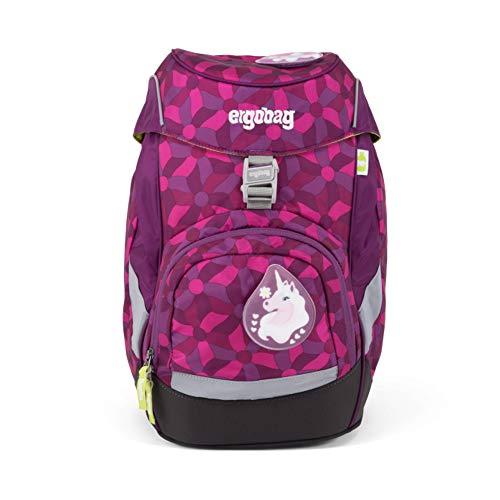 ERGOBAG ergobag prime Single School Backpack Zainetto per bambini, 35 cm, 20 liters, Viola (Flower Wheel Purple)