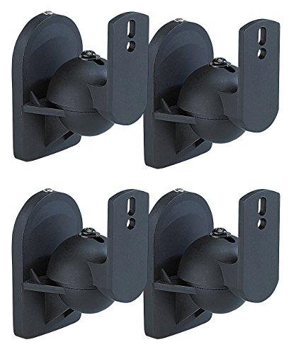 auvisio Lautsprecherhalterung: Kompakt-Halterung für Satelliten-Lautsprecher im 4er-Pack (Lautsprecher Wandhalterung)