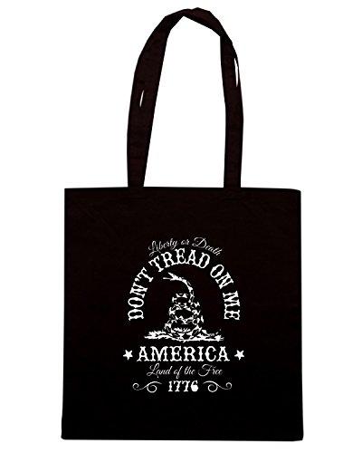 T-Shirtshock - Borsa Shopping TM0686 dont tread on me Nero