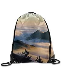 Preisvergleich für Vilico Schöner Rucksack mit Kordelzug im Landschafts-Stil, niedlich, für Reisen, Schulrucksack