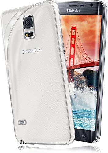moex Samsung Galaxy Note Edge | Hülle Silikon Transparent Klar Clear Back-Cover TPU Schutzhülle Dünn Handyhülle für Samsung Galaxy Note Edge Case Ultra-Slim Silikonhülle Rückseite