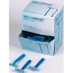 Med-Comfort Einmalrasierer – blau – einschneidig – 100 Stück