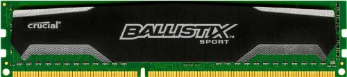 Price comparison product image Ballistix Sport 4GB Kit (2GBx2) DDR2 800MHz (PC2-6400) UDIMM 240-Pin Memory - BLS2CP2G2D80EBS1S00CEU