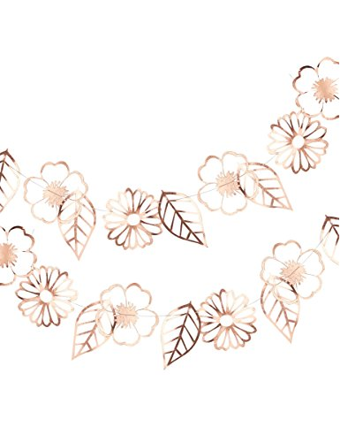 ROSE GOLD FOILED FLOWER GARLAND - DITSY FLORAL - Rose Garland