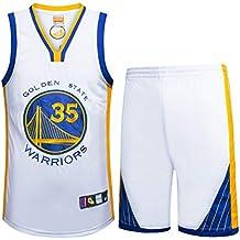 NBA Durant No. 35 Jersey Männer Basketball Kleidung T-Shirt Anzug,White,