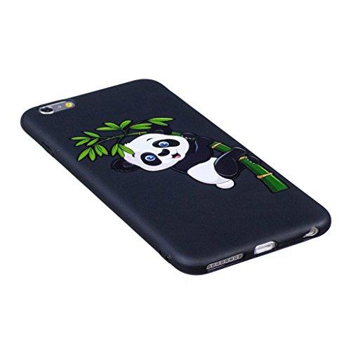 iPhone 6S Plus / 6 Plus Cover , IJIA Ultradünne Entzückende Corgi (Kiss My ASS) TPU Schwarz Weich Silikon Stoßkasten Hülle Handyhülle Schutzhülle Handyhüllen Schale Case Tasche für Apple iPhone 6S Plu BF35