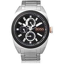 Boss Naranja para hombre-reloj analógico de cuarzo de acero inoxidable de Londres XXL 1513246