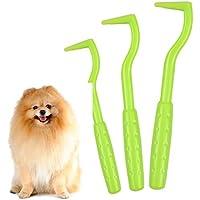 NATUCE 3PCS Gancho para Garrapatas, Herramientas para Eliminar Garrapatas, Herramienta de Eliminación de Garrapatas para Mascotas, Pinzas para garrapatas para Mascotas Perros Gatos Caballos