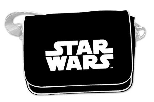 Star Wars Kuriertasche Logo, Messenger Bag mit verstellbarem Gurt 39x36x9cm