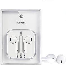 Kanget Original Earphones Compatible for iPhone 5, iPhone 5s, iPhone 6, iPhone 6s, iPhone 6s Plus Wired in-Ear Headphone with 3.5mm Jack & Mic for Apple Smartphones (White)