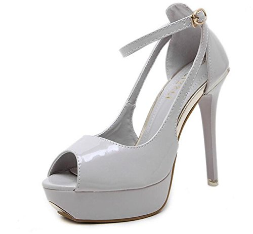 Beauqueen Pumps Peep Toe Plattform Stiletto High Heel