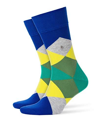 Burlington Herren Clyde modernes Muster Baumwolle 1 Paar Casual Socken, Blickdicht, blau (Marine 6047), 40/46