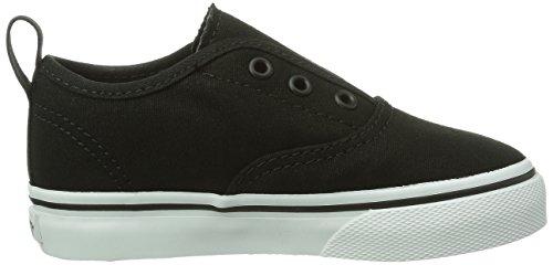 Vans AUTHENTIC V Unisex-Kinder Sneakers Schwarz (Black/True Whit 6BT)
