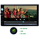 Woodman WMLX22 Double-Din Android Stereo with GPS and Screen Mirroring (Black)