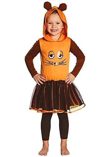 Orange Kleid Kostüm - Kostüm Maus Kinder Mädchen Kleid orange