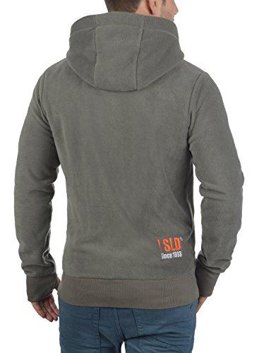 !Solid Loki Herren Fleecejacke Sweatjacke Jacke Mit Kapuze Und Daumenlöcher, Größe:S, Farbe:Mid Grey (2842) - 3