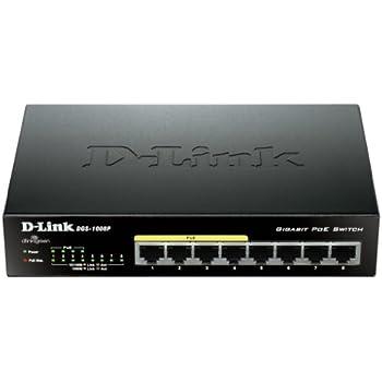 D-Link DGS-1008P Switch 8 Porte 10/100/1000 Gigabit, Power Over Ethernet, No Alimentazione Aggiuntiva