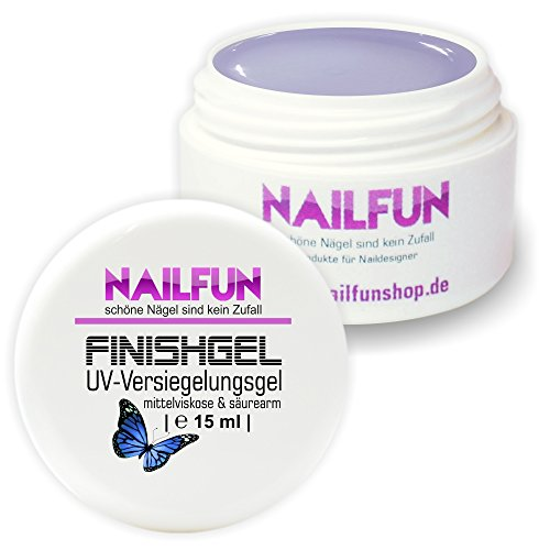 Nailfun 15 ml UV Versiegelungsgel mittelviskose hochglänzend selbstglättend, 1er Pack (1 x 15 ml)