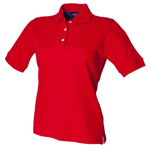 Henbury Damen Poloshirt Ladies Cotton Polo Shirt Marineblau