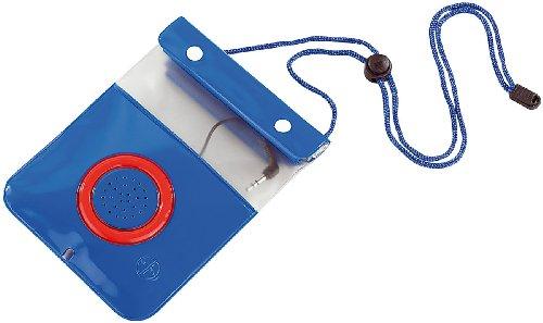 Somikon Wasserdichter Bumper: Wasserdichte Lautsprecher-Tasche für Player bis 110x125 mm (Wasserdichte Schutztasche)