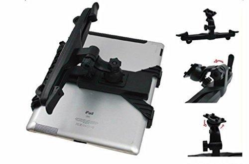 Soporte tablet coche seguro, soporte tablet ajustable al reposacabezas del coche para...