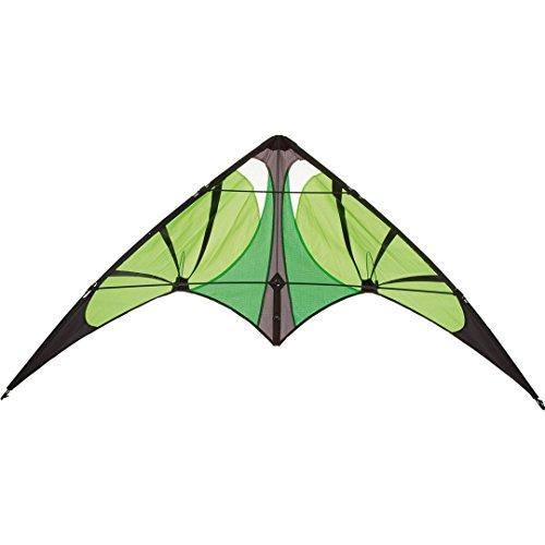 Invento 112354 - Bebop Lime R2F Zweileiner Lenkdrachen, Ab 8 Jahren, 69 x 145 cm Ripstop-Polyester 2.5-5 Beaufort