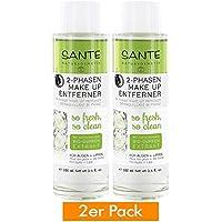 Sante Natural maquillaje 2 fases Makeup Entferner Elimina Ojos y Labios Maquillaje suavemente & Calmante.