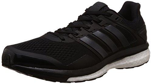 adidas Supernova Glide 8, Scarpe Running Uomo, Nero (Core Black/Utility Black/Ftwr White), 45 1/3 EU