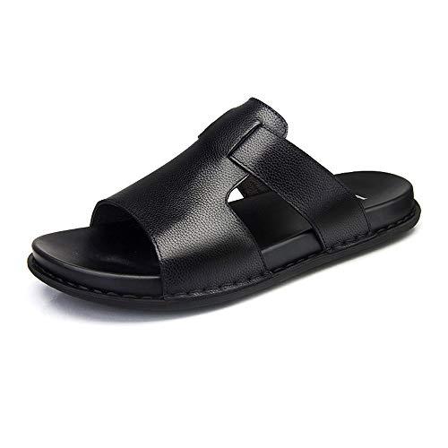 Czcrw Sommer Leder Sandalen Yoga Flip Flops Arch Support rutschfeste Leder Thong Sandalen Unisex Open Toe Rutsche Sandalen Dusche Strand Pool Schuhe (Größe : 42 EU) (Nike-dusche Für Jungen Schuhe)