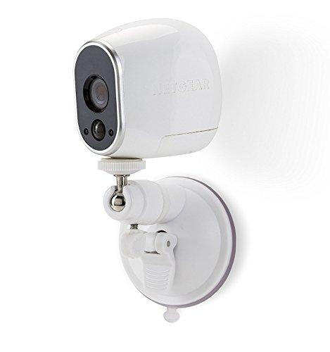 Saugnapf Halterung Suction Cup für Arlo Kamera für Arlo HD & Arlo PRO Kamerasystem Indoor/Outdoor Halterung von Wasserstein (2 Pack, Weiß)
