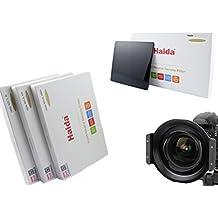 Soporte de filtro de alta calidad de metal marca HAIDA para el Filtros de Plug-in de la Serie 150 para Tokina AT-X 16-28mm f/2.8 Pro FX y Conjunto de Haida óptico ND de 150 mm x 150 mm - ND0.9 (8x) / ND1.8 (64x) / ND3.0 (1000x)